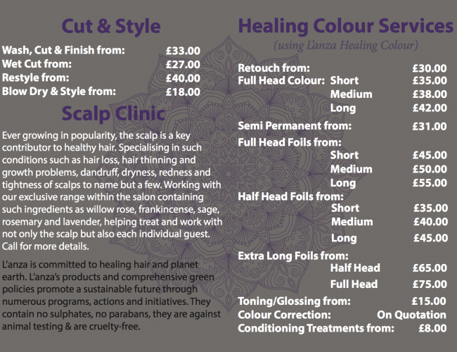 Services and Scalp Clinic - Authentic Self - Hair and Lifestyle Salon